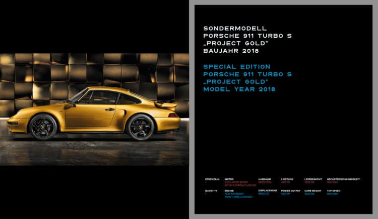 "4. Einblick in das Buch LIMITED EDITION ""Porsche 993 – 25 YEARS 1994 – 2019"""