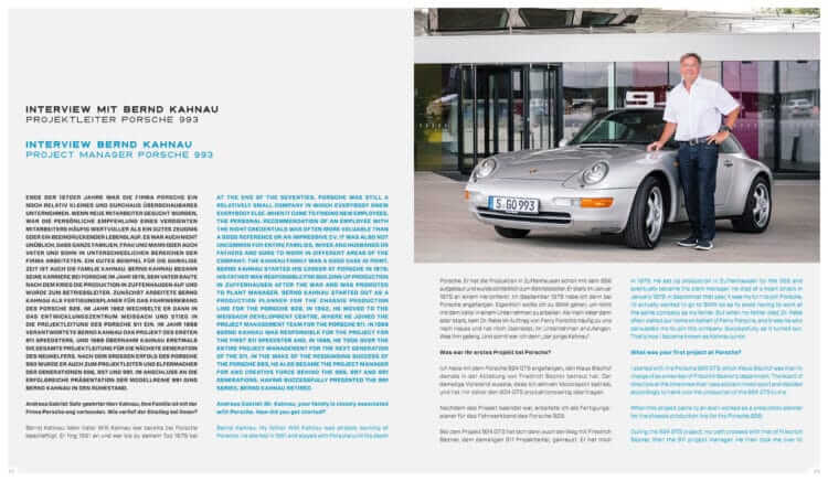 """Insight into the book LIMITED EDITION """"Porsche 993 - 25 YEARS 1994 - 2019"""": Interview with Bernd Kahnau"""