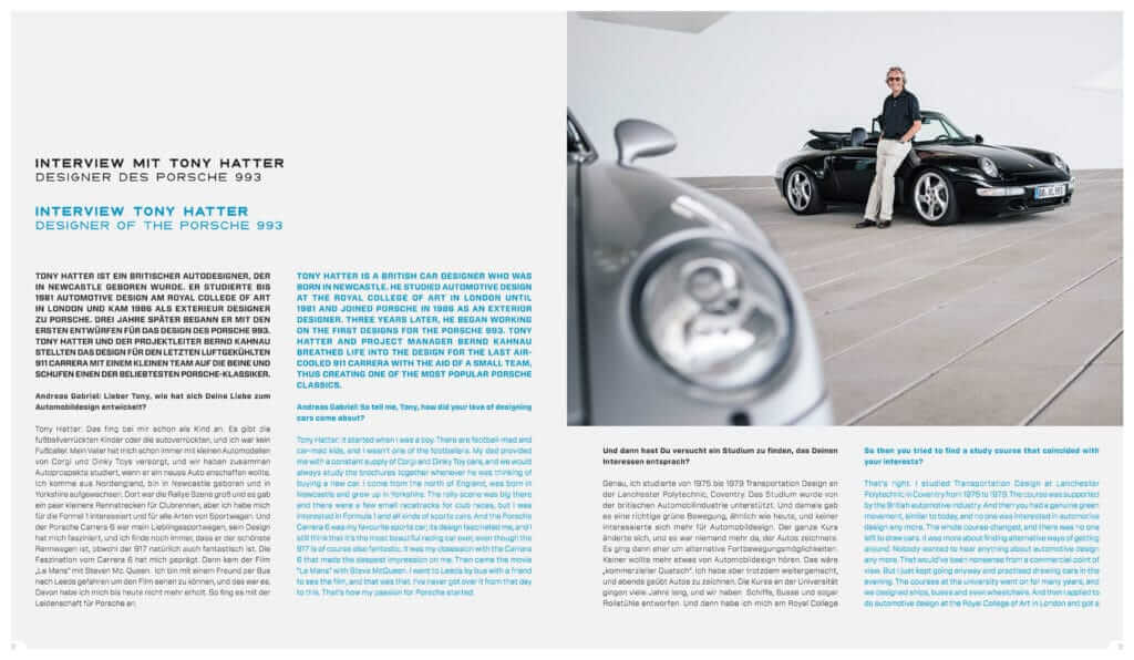 "Einblick in das Buch LIMITED EDITION ""Porsche 993 – 25 YEARS 1994 – 2019"": Interview mit Tony Hatter"