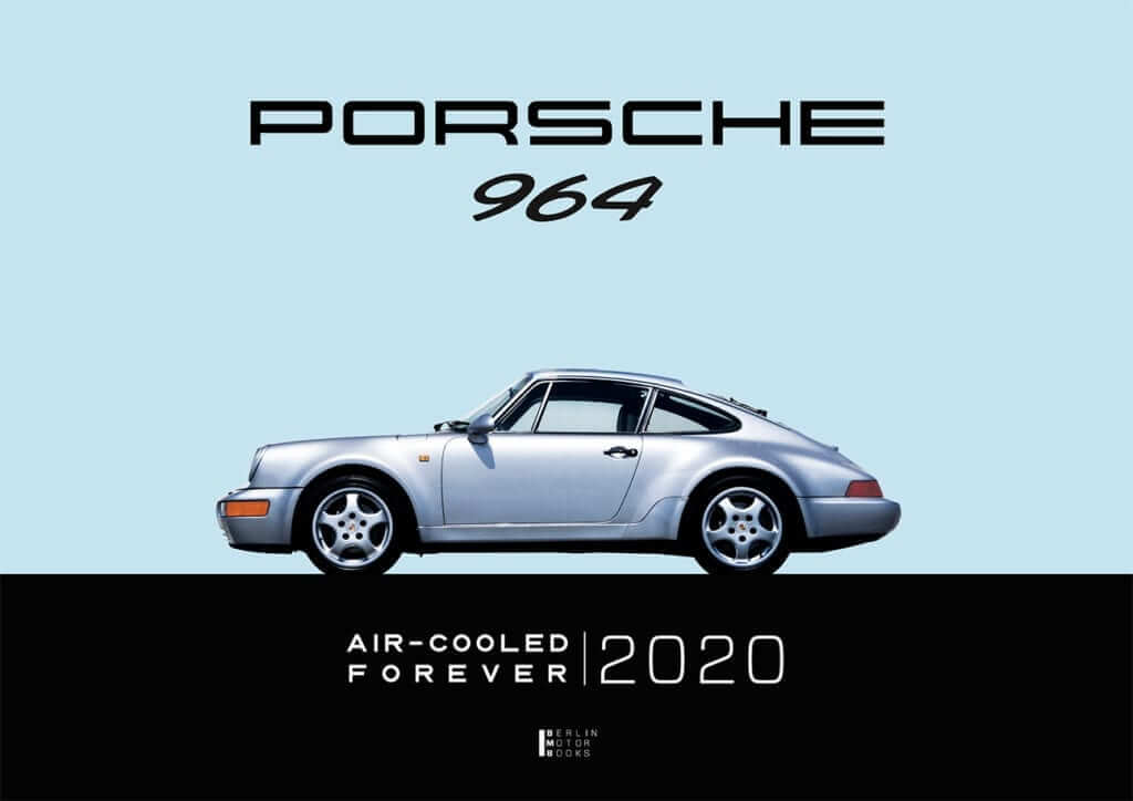 Frontpage of the Porsche 964 calendar by Berlin Motor Books