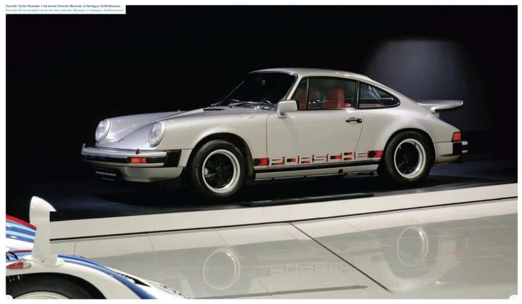 Porsche Turbo Nummer 1 im neuen Porsche Museum in Stuttgart Zuffenhausen