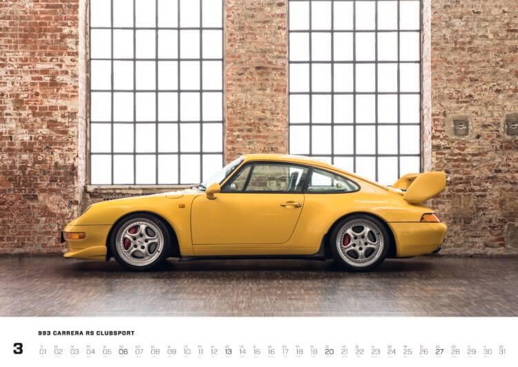 """Porsche Kalender 2022: Porsche 993 Kalender """"Air-Cooled Forever 2022"""""""